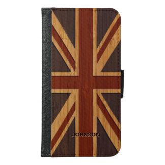 Bamboo Look & Engraved Vintage UK Flag Union Jack