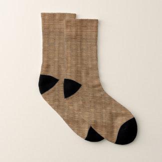 Bamboo Look Pattern Brown and Tan Socks 1