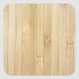 Bamboo-Look Square Sticker