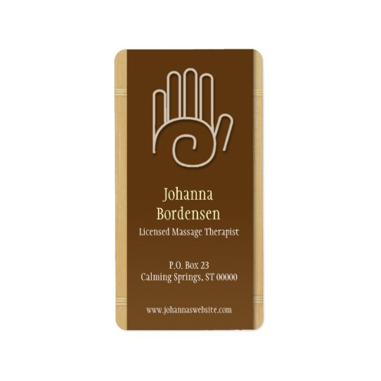 Bamboo Massage Therapy Shipping Label