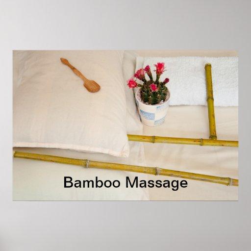Bamboo Massage Tools Poster