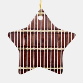 bamboo mat texture christmas ornament