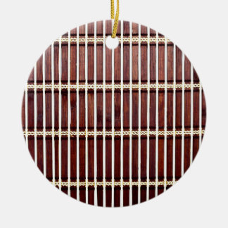 bamboo mat texture round ceramic decoration