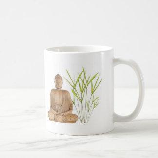 bamboo meditation classic white coffee mug