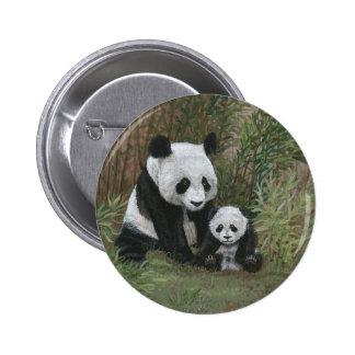 Bamboo Nest Panda Bear button