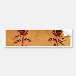 Bamboo on Parchment Bumper Sticker