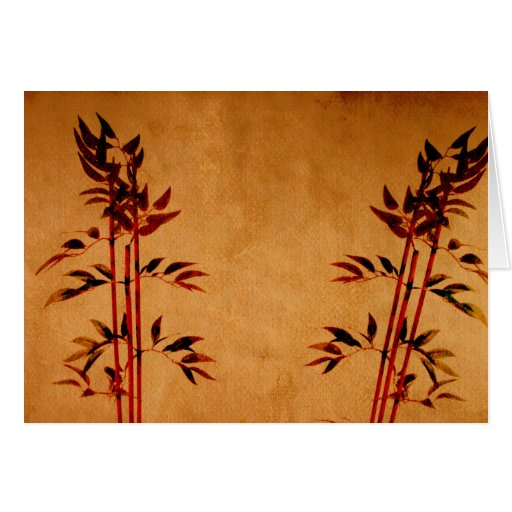 Bamboo on Parchment Greeting Card