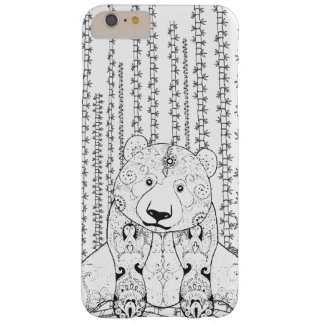 Bamboo Panda Doodle Barely There iPhone 6 Plus Case