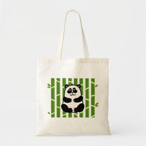 Bamboo Panda Tote Budget Tote Bag