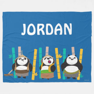 Bamboo Pandas Fleece Blanket