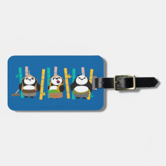 Bamboo Pandas Luggage Tag