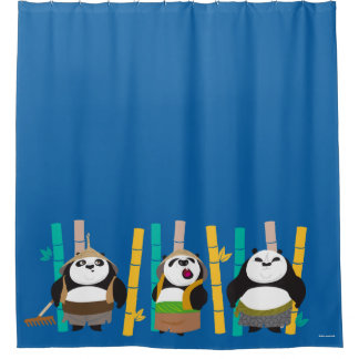 Bamboo Pandas Shower Curtain