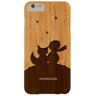 Bamboo Pattern Engraved Little Prince and Fox Barely There iPhone 6 Plus Case