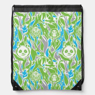 Bamboo Po Pattern Drawstring Bag