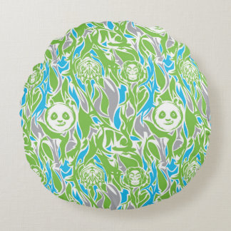 Bamboo Po Pattern Round Cushion