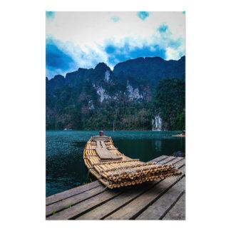 Bamboo Raft Photo Print