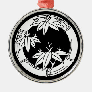 Bamboo ring with bamboo leaves christmas ornament