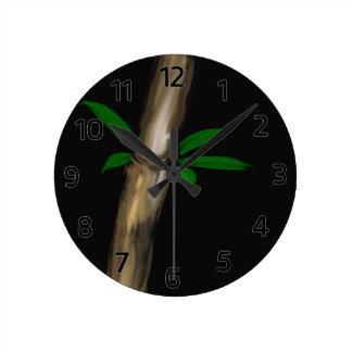 Bamboo Round Clock