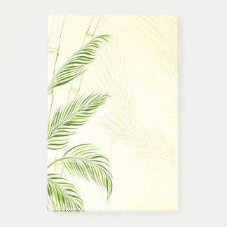 Bamboo stalks and leaves, all over print - post-it notes