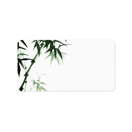Bamboo Stalks l Oriental Zen Touch Blank Label Address Label