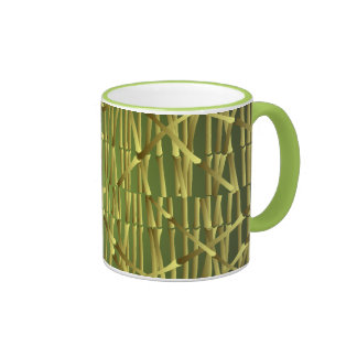 Bamboo Stem Pattern Ringer Mug