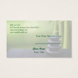 Bamboo Stone Massage Spa Salon Appointment Card