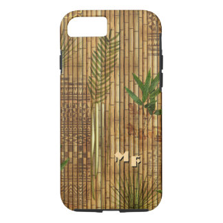 Bamboo Tapa Cloth with (or without) Your Initials iPhone 7 Case