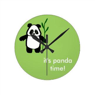"""Bamboo the Panda """"It's Panda Time"""" Clock"""