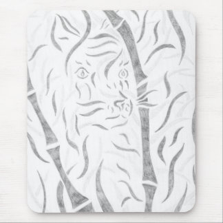 Bamboo Tiger Mouse Pad