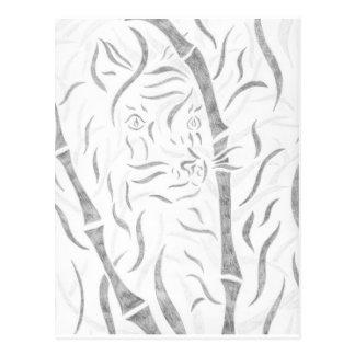 Bamboo Tiger Postcard