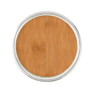 Bamboo Toast Wood Grain Look Lapel Pin