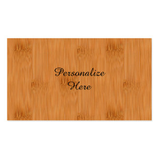 Bamboo Toast Wood Grain Look Pack Of Standard Business Cards