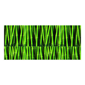 Bamboo tree natural pattern hipster fun trendy chi custom rack cards