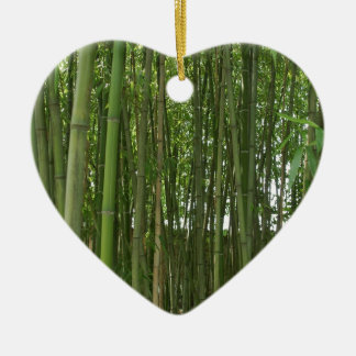 Bamboo trees christmas ornament