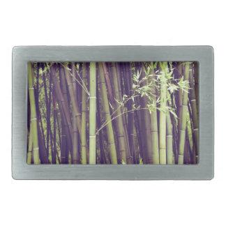 Bamboo trees rectangular belt buckle