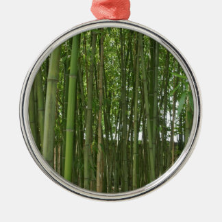 Bamboo trees Silver-Colored round decoration