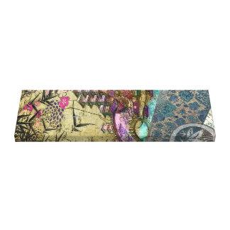 Bamboo Village on Silk & Parchment Canvas Print