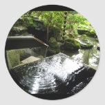 Bamboo Waterfall in Japan Round Sticker