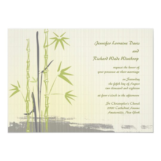 Bamboo Wedding Invitation