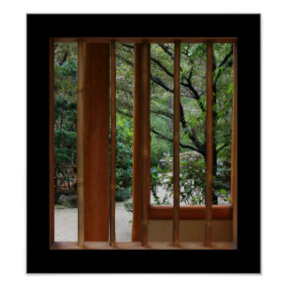 Bamboo Window Poster