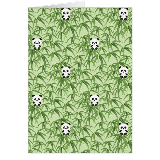 Bamboo with Pandas Card