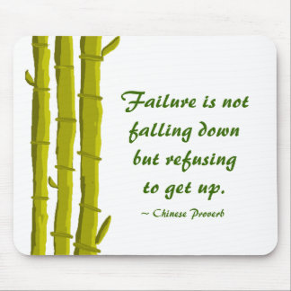 Bamboo with Success Quote Mouse Mat