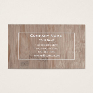 Bamboo Wood Business Card