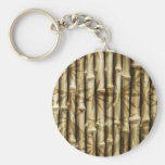 Bamboo Wood Texture Keychains