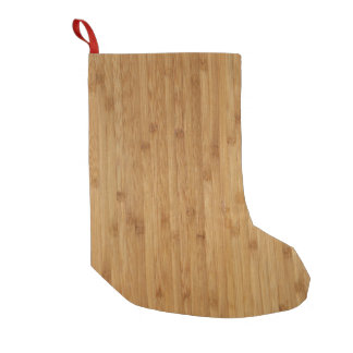Bamboo Wood Texture Look Small Christmas Stocking