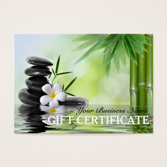 Bamboo Zen Stones Reiki Spa Salon Gift Certificate