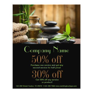 bambooSPA products beauty salon business 11.5 Cm X 14 Cm Flyer