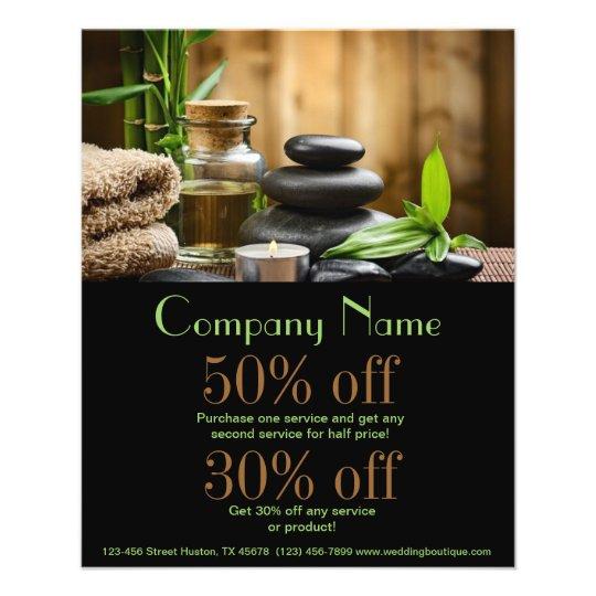 bambooSPA products beauty salon business Flyer