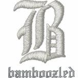 Bamboozled Men's Cotton Zip Hoodie- Black/White Embroidered Hoodies