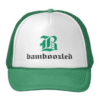 Bamboozled Men's Trucker Hat- White/Green Cap